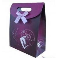 Environmental Recycled Purple Hot Transter Printing Custom Printed Gift Carrier Bags Manufactures