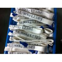 Quality Safety Factor 5 To 1 Endless Webbing Sling 900kg White Color OEM Available for sale