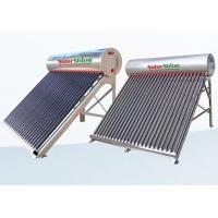 Safety Vacuum Tube Solar Water Heater , Solar Powered Tankless Water Heater Manufactures