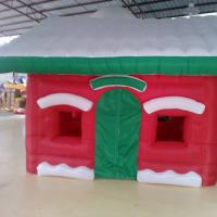 Buy cheap Red Mini Oxford  Inflatable Christmas House for Christmas  Decoration from wholesalers