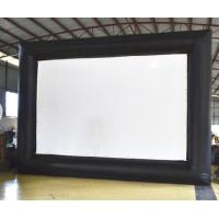 Quality Portable Giant Outdoor Inflatable Movie Screen 0.9 Mm PVC Tarpaulin + 420D for sale