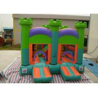 Oxford Fabric Inflatable Commercial Bounce Houses With Slide For Kids Manufactures