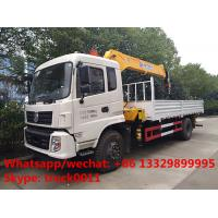 2017s dongfeng tianjin 170hp/190hp diesel 6.3tons truck with crane for sale, factory best price dongfeng crane truck Manufactures