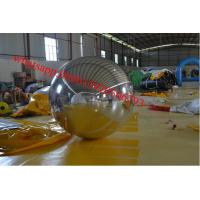 Stage Customized Advertising Inflatable Mirror Ball , Mirror Cloth with Fireproof Manufactures