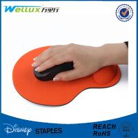 Custom Rubber Mouse Pad With Wrist Support , Decorative Smooth PU GEL Mousepad Manufactures