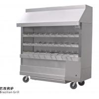 Silvery White Stainless Steel Brazilian Charcoal Oven Burner Commercial Kitchen Equipments Manufactures