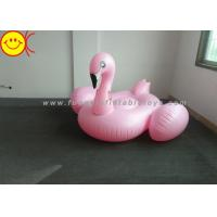 Light Weight Inflatable Pink Flamingo , Inflatable Pool Toys For Swimming Pool Manufactures