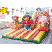 Cartoon Theme Kids Bouncer Combo Inflatable Cartoon Bouncy Castle With Slide Manufactures