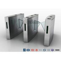 Retractable Flap Barrier Turnstile Durable Anti Pinch Function Time Attendance System Manufactures