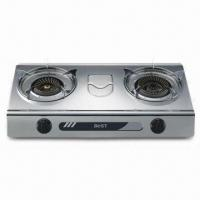 Double Burner Tabletop Gas Stove with Automatic Ignition