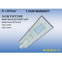 LiFePo4 Battery LED  Solar Lamp With WIFI Camera / Solar Street Light All In One 50W ROHS IES Manufactures