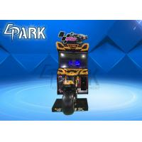Car Racing Game Machine / Motorcycle Racing Arcade Machine Realistic Designing Manufactures