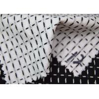 Grid Style Jacquard Material Pure Cotton Classical Black And White Color Manufactures