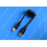 Black 8 Pin High Speed HDMI Cable , Gold Plated Multimedia HDMI To HDMI Cable Manufactures