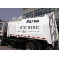 Quality Self Compress Side Loading Garbage Truck , Hydraulic System Waste Management for sale