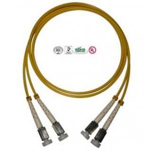 China Single Mode D4 Fiber Optic Patch Cord Simplex Duplex Double Cores on sale