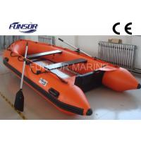 Marine Aluminum Floor Inflatable Rescue Boat Orange For 6 Person Manufactures