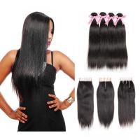 100% Malaysian Straight Hair Bundles For Black Women / Double Weft Hair Extensions Manufactures