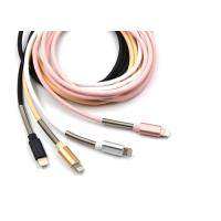 Quality PU Wraped iPhone Mfi Cable in Pink Color / 1m Long Length / 8pin USB 2.0 for sale