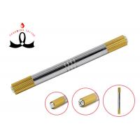 Gold 2 Heads Permanent Makeup Tools Manual 3D Eyebrow Tattoo Pen