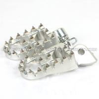 Customized Dirt Bike Foot Pegs With Super Aggressive High Tempered Steel Teeth Manufactures