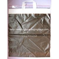 HDPE White Biodegradable Plastic Shopping Bags with Flexi Loop Handle Manufactures