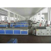 PVC Skirting Plastic Board Machine , Cabinet Wpc Board Production Line Manufactures
