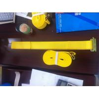 WLL 3335 LBS Polyester Ratchet Straps , Yellow Car Trailer Straps CE Approved Manufactures