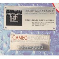 Custom stainless steel business sign plates, screw-on stainless steel plaques wholesale, Manufactures