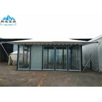 5x6M White PVC Roof Hotel Marquee Party Tent With Glass Wall And Door Manufactures