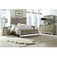 Wooden Design King Size Mirrored Bed , Dresser Mirrored Bedroom Furniture Set Manufactures