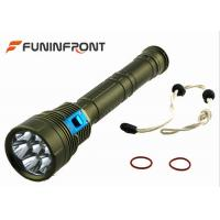 9000LMs  Diving LED CREE Torch, Waterproof Underwater Scuba Diving Lights Manufactures