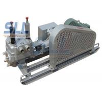 Low Noise Mortar Grout Pump , Electric Grout Pump With Skid Chassis SG130-20 Manufactures