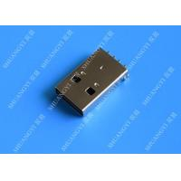 USB 2.0 A Male USB Charging Connector , Plug Jack Mounting Solder 4 Pin PCB Connector Manufactures