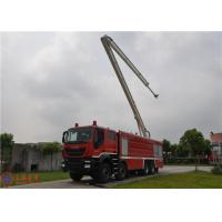 Quality 8x4 Driving Fire Engine Vehicle , Large Capacity Tower Ladder Fire Truck for sale