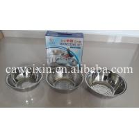 China 3 pcs kitchenware Stainless Steel rice strainer colander on sale