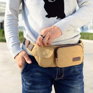 Dual Use Tear Resistant Canvas Sport Waist Bag Practical Large Capacity Manufactures