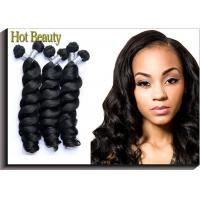 Health Peruvian Virgin Hair Loose Wave / 100g Peruvian Body Wave Hair With Unprocessed Manufactures
