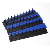 Quality 10 Holes Plastic Binding Clip Blue And Black Color 3mm5mm7.5mm10mm15mm17.5mm20mm35mm for sale