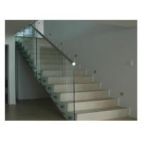 Floor Mounted Stainless Steel Glass Balustrade , Standoff Building Deck Railing Manufactures