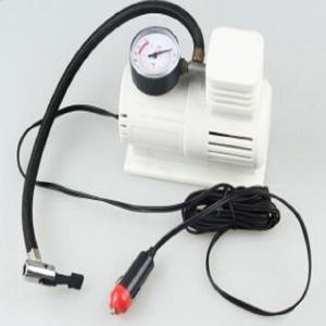 White Mini Air Pump With 45cm Hose , Hand Held Heavy Duty Car Air Compressor Manufactures