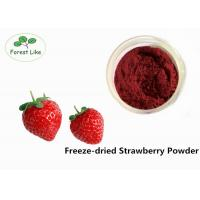 Natural Freeze Dried Strawberry Fruit Powder Natural Flavour Rich Nutrition Manufactures