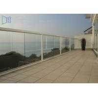 Quality Customized Outdoor Stair Handrail Corrosion Resistance Aluminum Glass Railing for sale