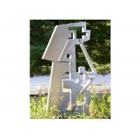 Buy cheap Abstract Stainless Steel Painted Metal Sculpture For Garden Decor from wholesalers