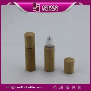 Buy cheap SRS 5ml bamboo roller ball bottle, bamboo plastic eye cream bottle from wholesalers
