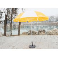 Stable Big Beach Umbrella , Branded Promotional Umbrellas With 210D Oxford Fabric Manufactures