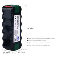 Melasta High Capacity 4600mAh 14.4v NI-MH Vacuum battery for iRobot Roomba R3
