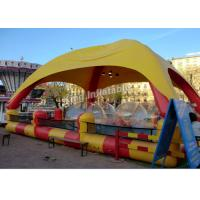 Outdoor Sports Summer Inflatable Water Pools In Rectangle Shape With Tent Manufactures