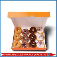 Custom Logo Printed White Paper Food Box Donuts Folding Package Manufactures
