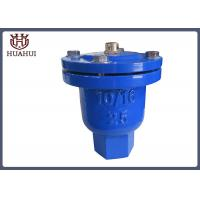 Screw Connection Air Release Valve Blue Color Ductile Iron With Stainless Steel Ball Manufactures